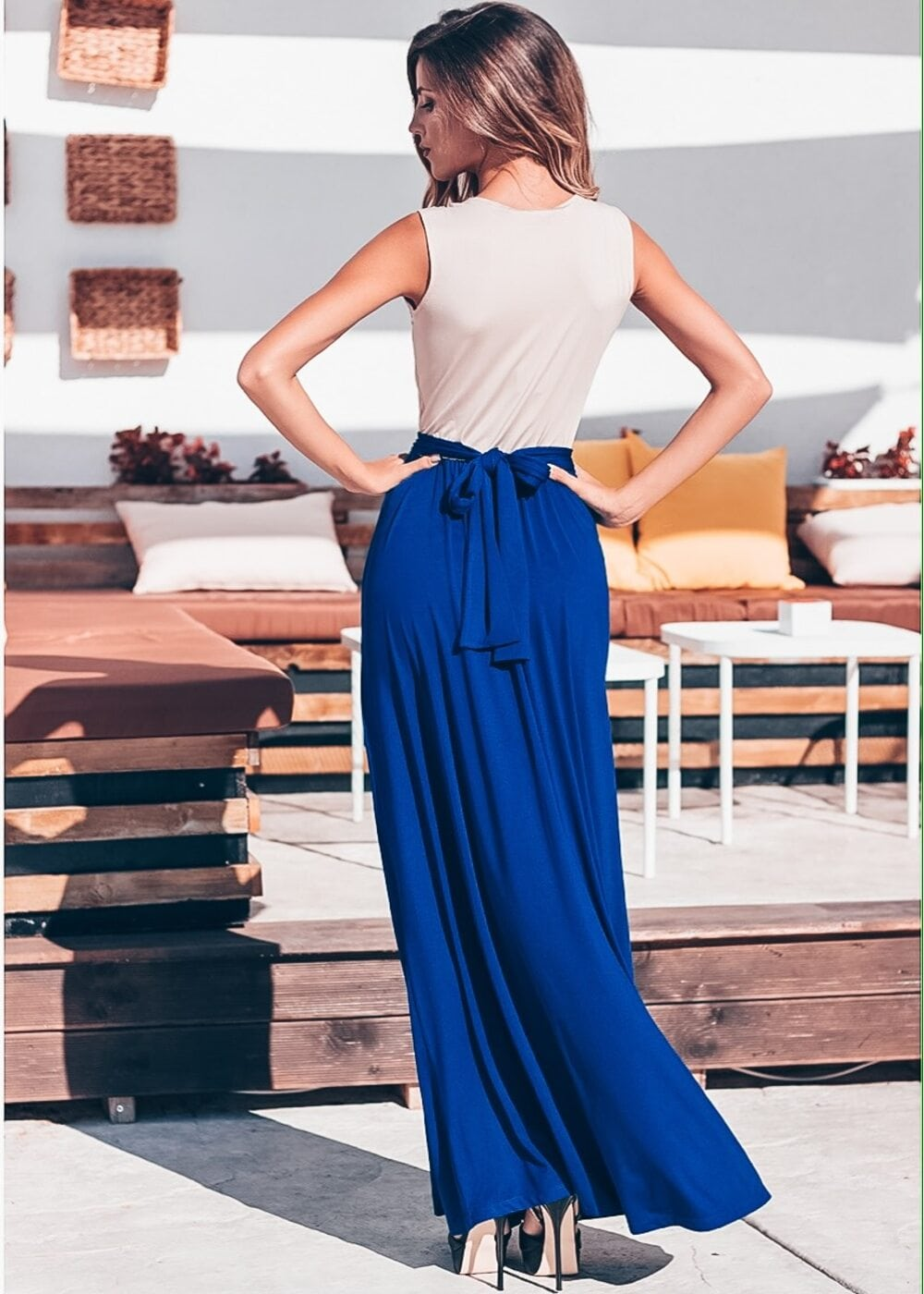 Magic Touch Maxi Dress (Blue)