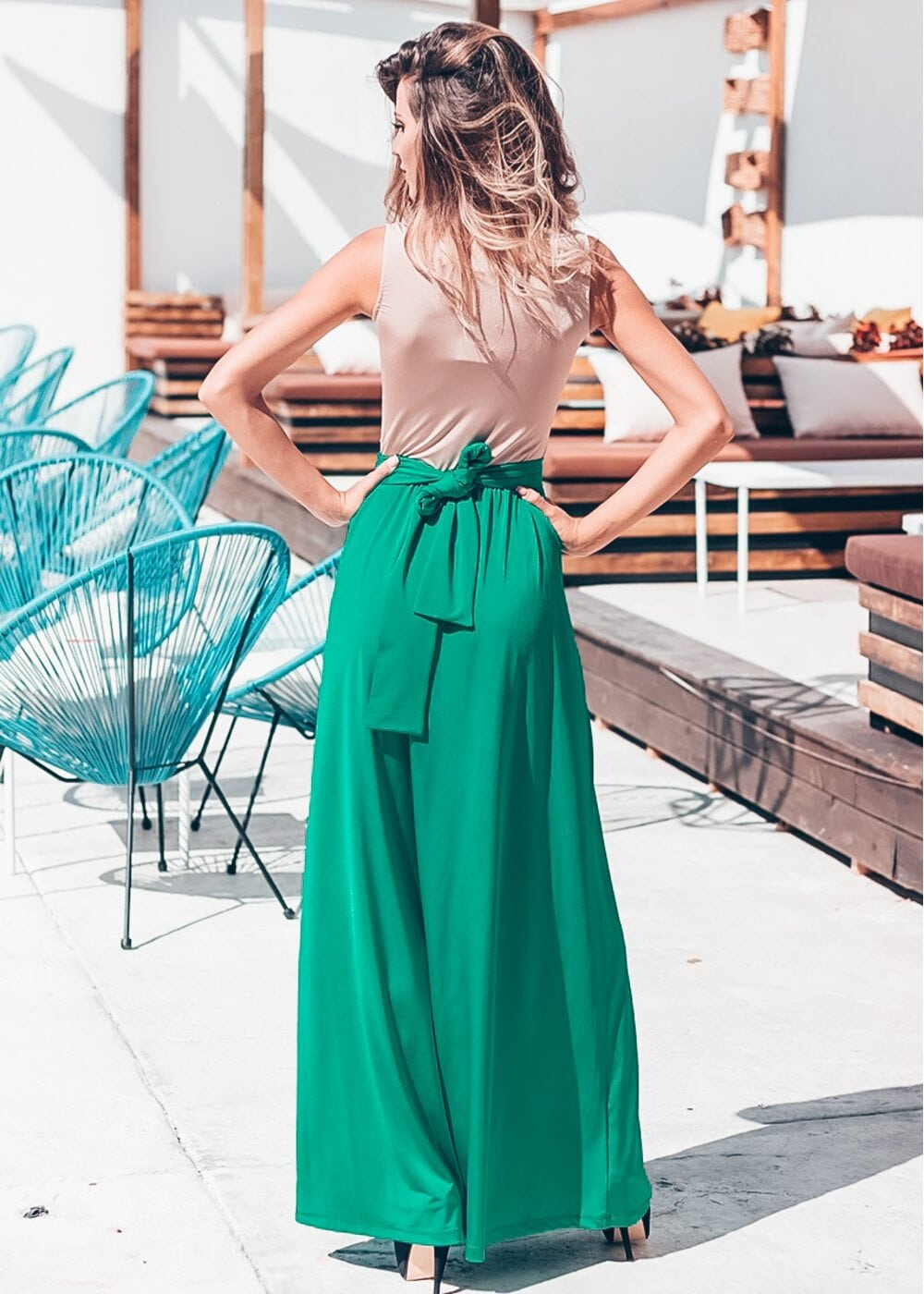 Magic Touch Maxi Dress (Green)