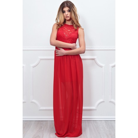 So Lovely Maxi Dress (Red)