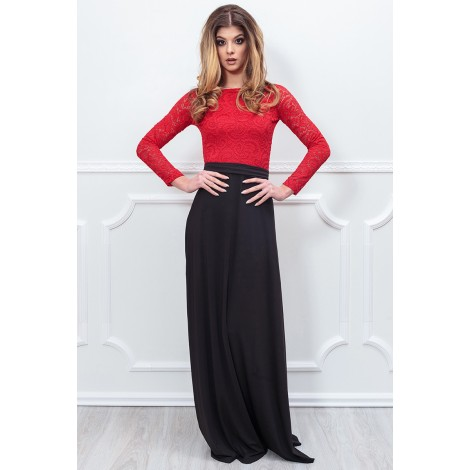 Only Tonight Maxi Dress (Red/Black)