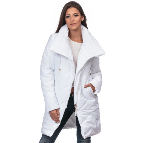 Asymmetric Axis Jacket (White)