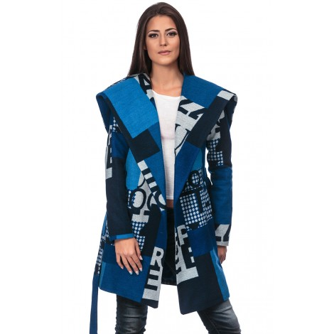 Coat With Belt (Blue)