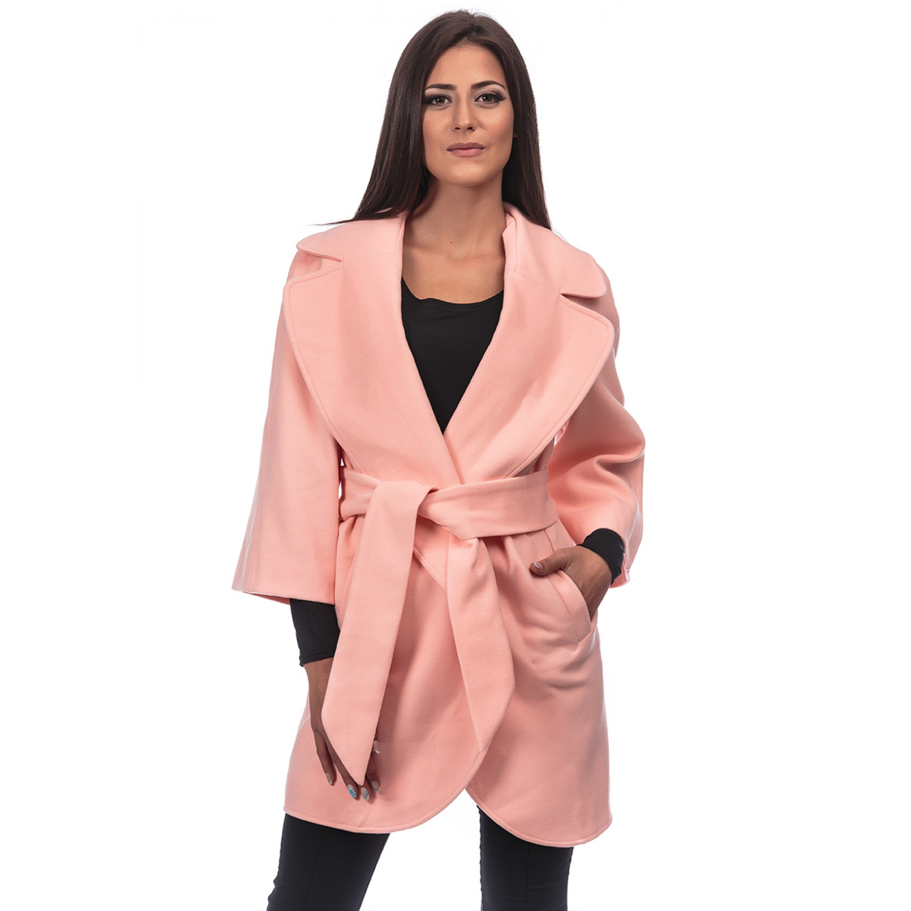 Soft Kashmir Coat (Blush)