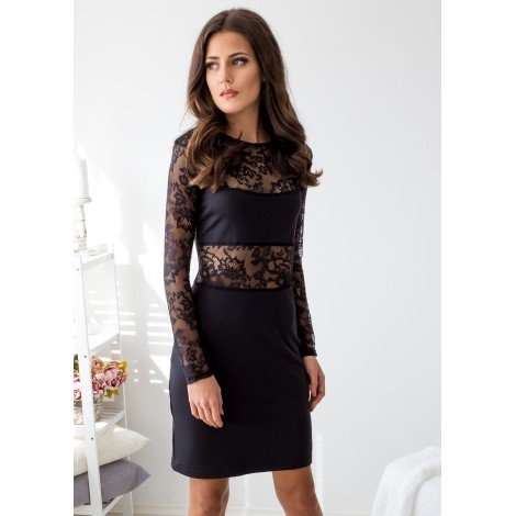 Romantic Date Mini Dress (Black)