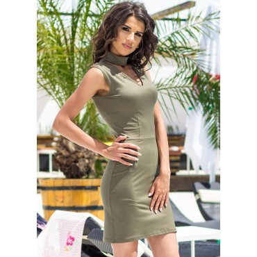 Sunshine Road Mini Dress (Khaki)