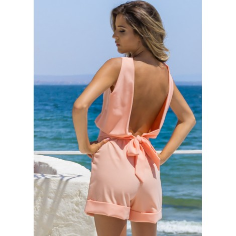 Veronica Playsuit (Peach)