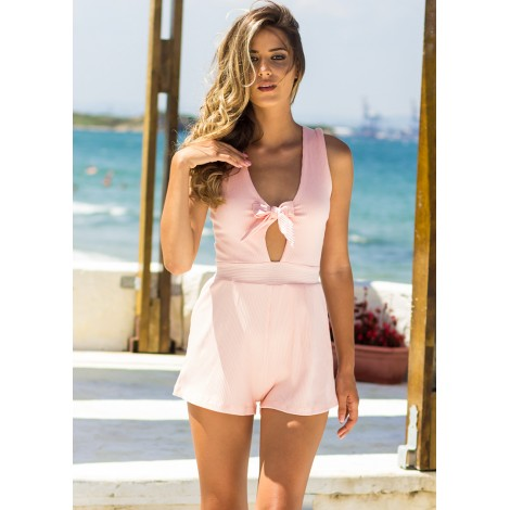 Sleepless Nights Playsuit (Blush)