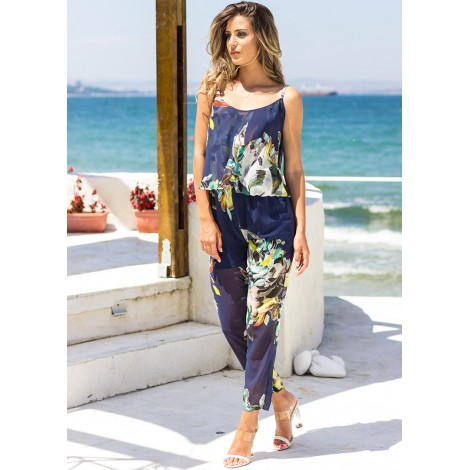 In Paradise Jumpsuit (Navy)