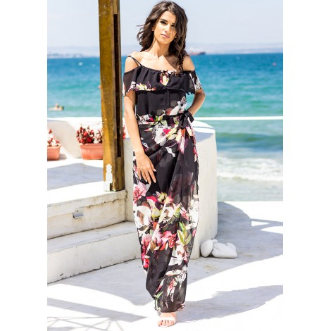 Barcelona Maxi Dress (Black)