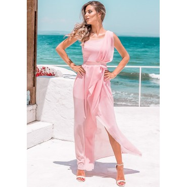Cannes Maxi Dress (Pink)