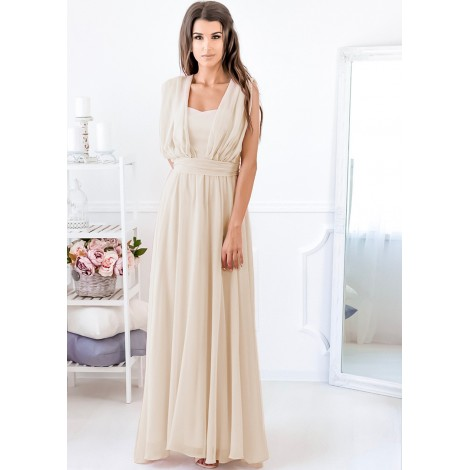 Special Moments Maxi Dress (Beige)