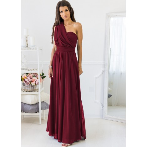 Special Moments Maxi Dress (Wine)