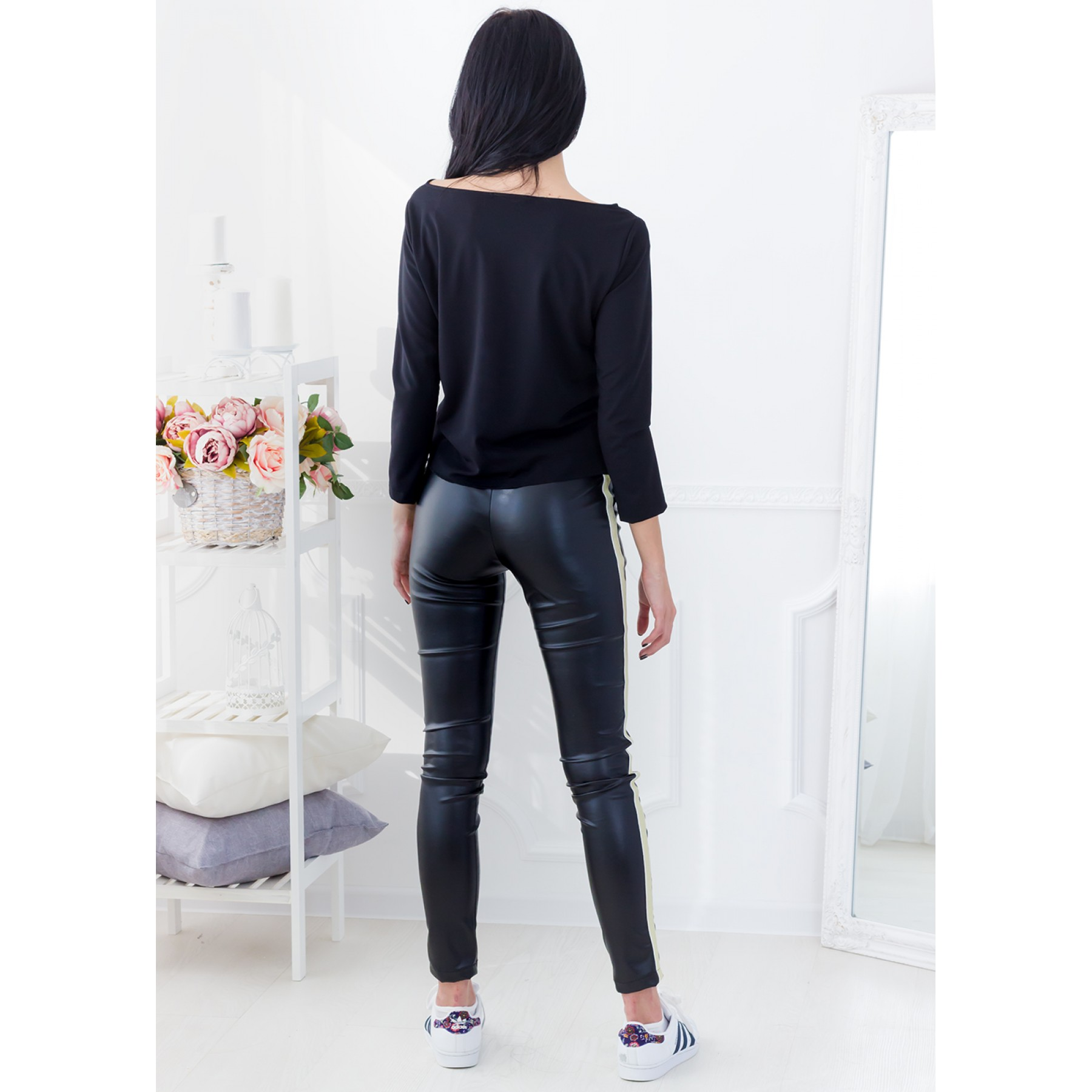 Monique Leather Pants (Black)