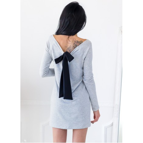 No Doubt Mini Dress (Grey)