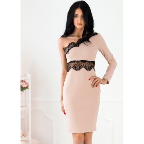 Embassia Midi Dress (Nude)