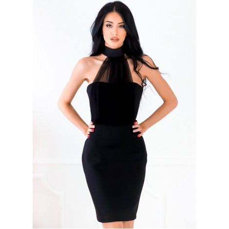 Tanya Mini Dress (Black)
