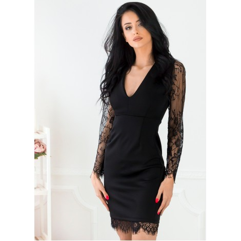 Adelle Mini Dress (Black)