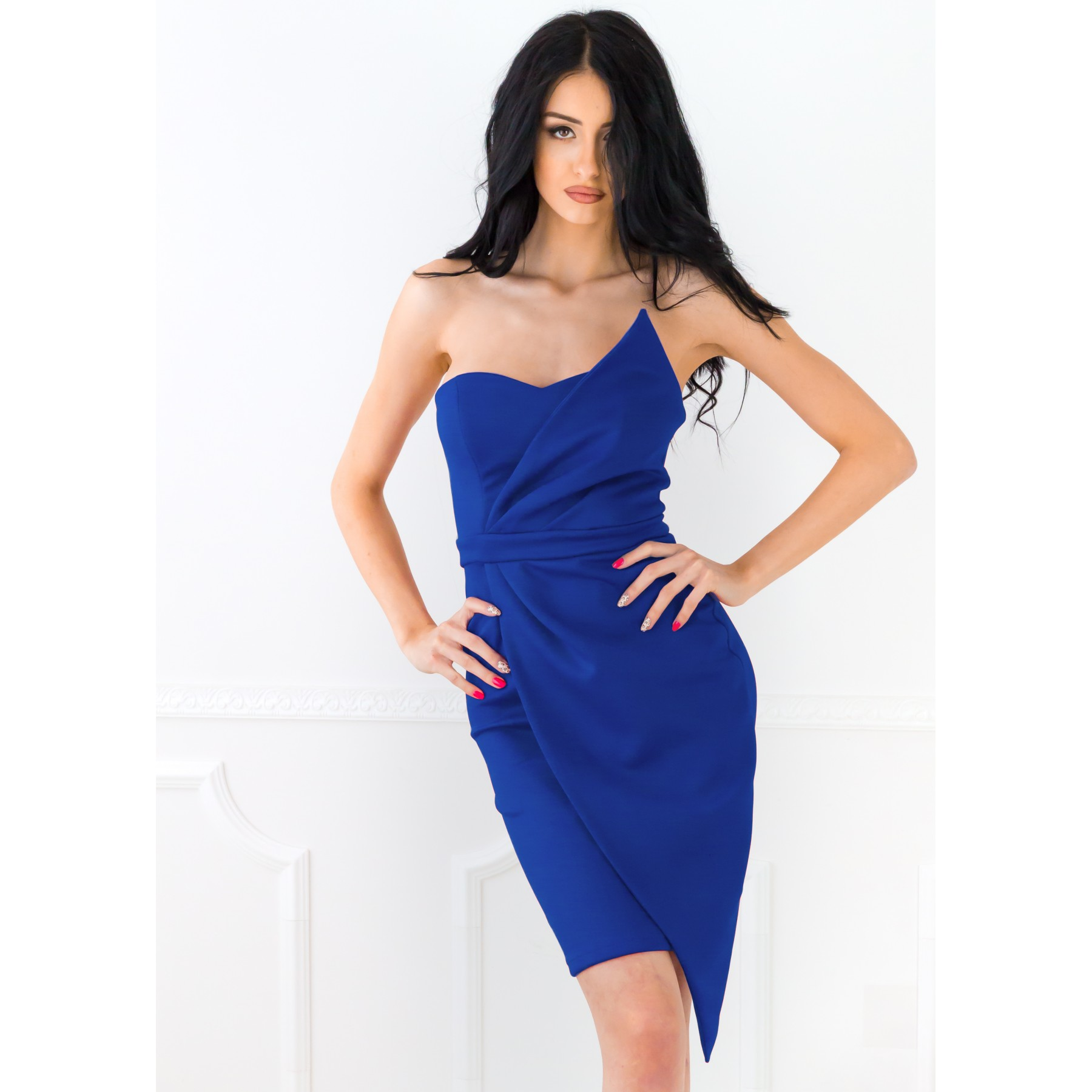 Mirabelle Mini Dress (Cobalt)