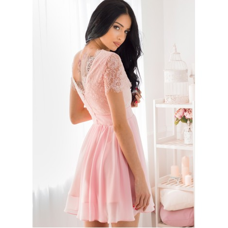 Rosaline Mini Dress (Blush)