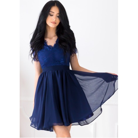 Rosaline Mini Dress (Navy)