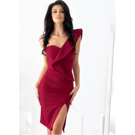 Caruso Mini Dress (Wine)