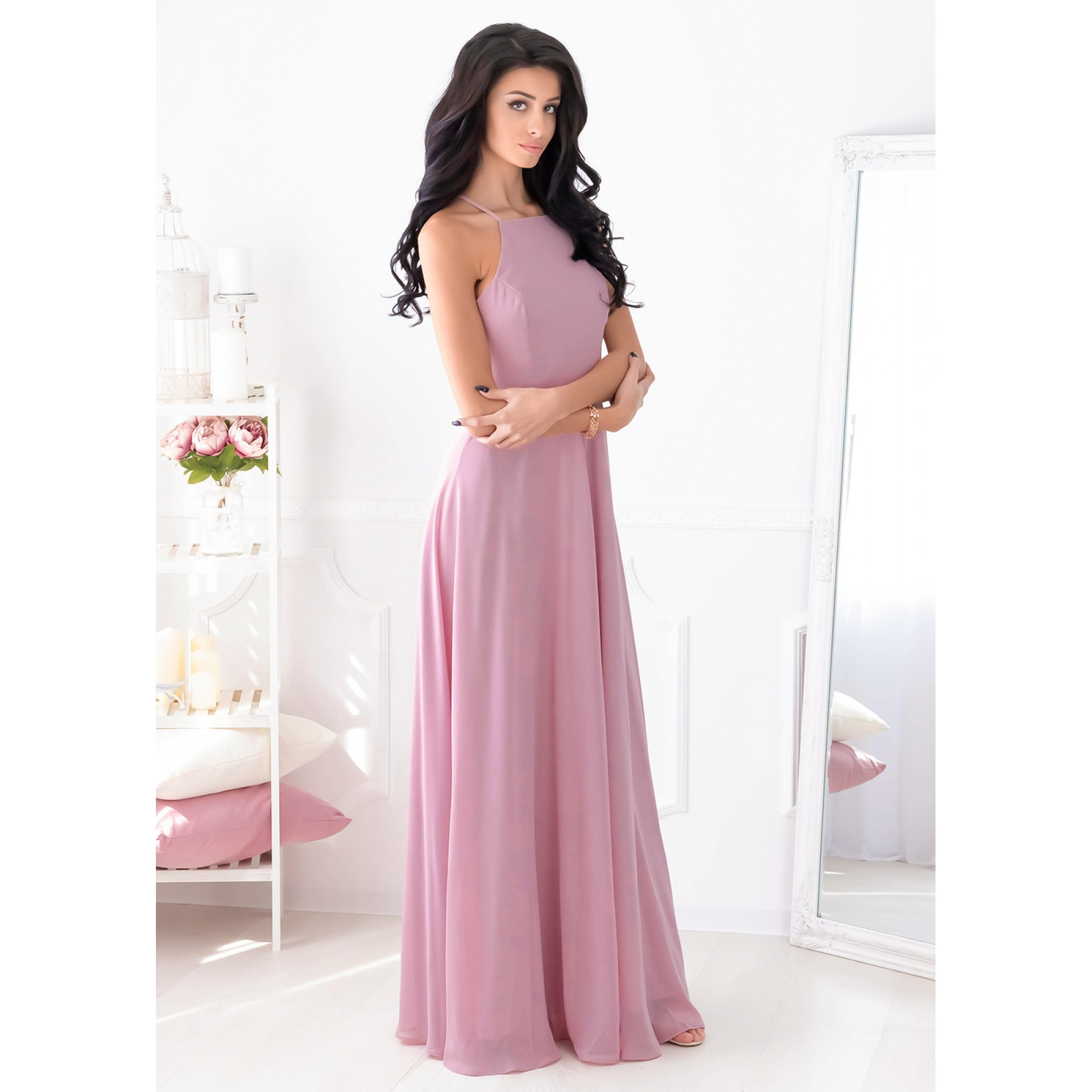 Christiana Maxi Dress (Mauve)