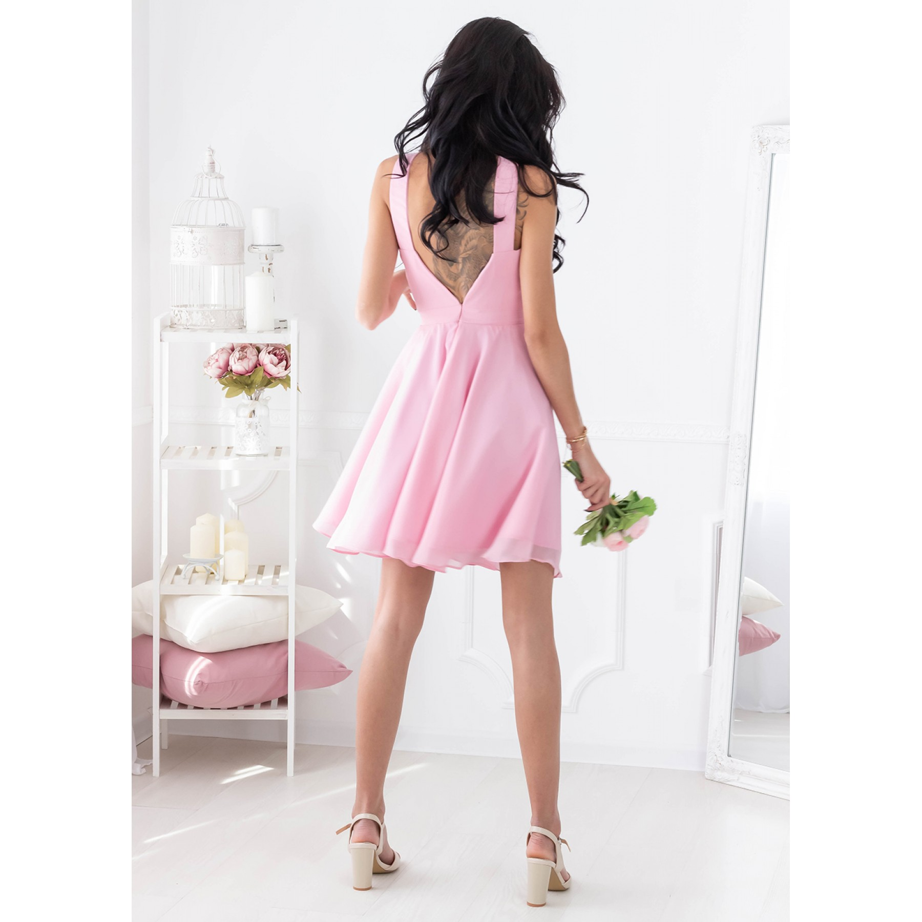 Beatrice Mini Dress (Blush)