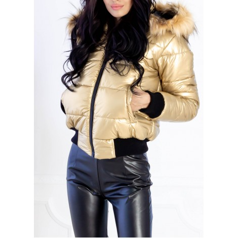 Renee Puffer Jacket (Gold)