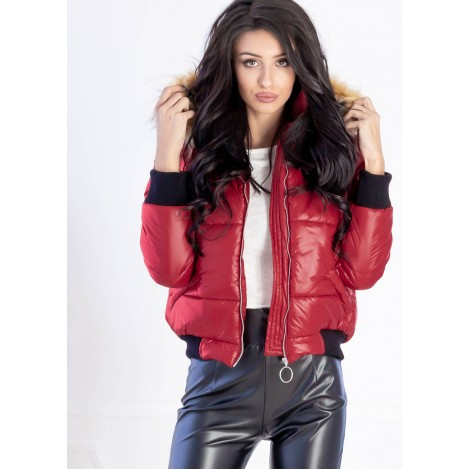 Renee Puffer Jacket (Red)