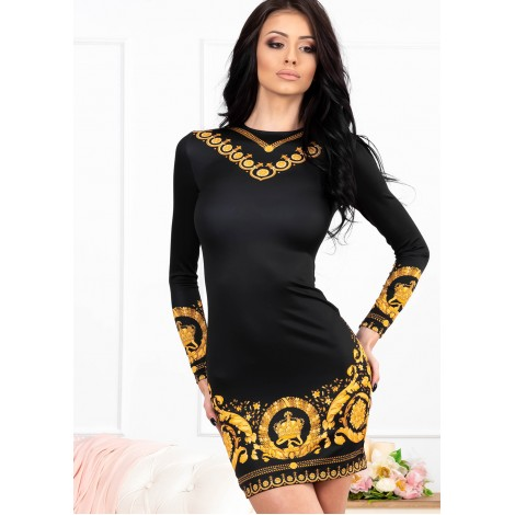 Donna Mini Dress (Black/Gold)