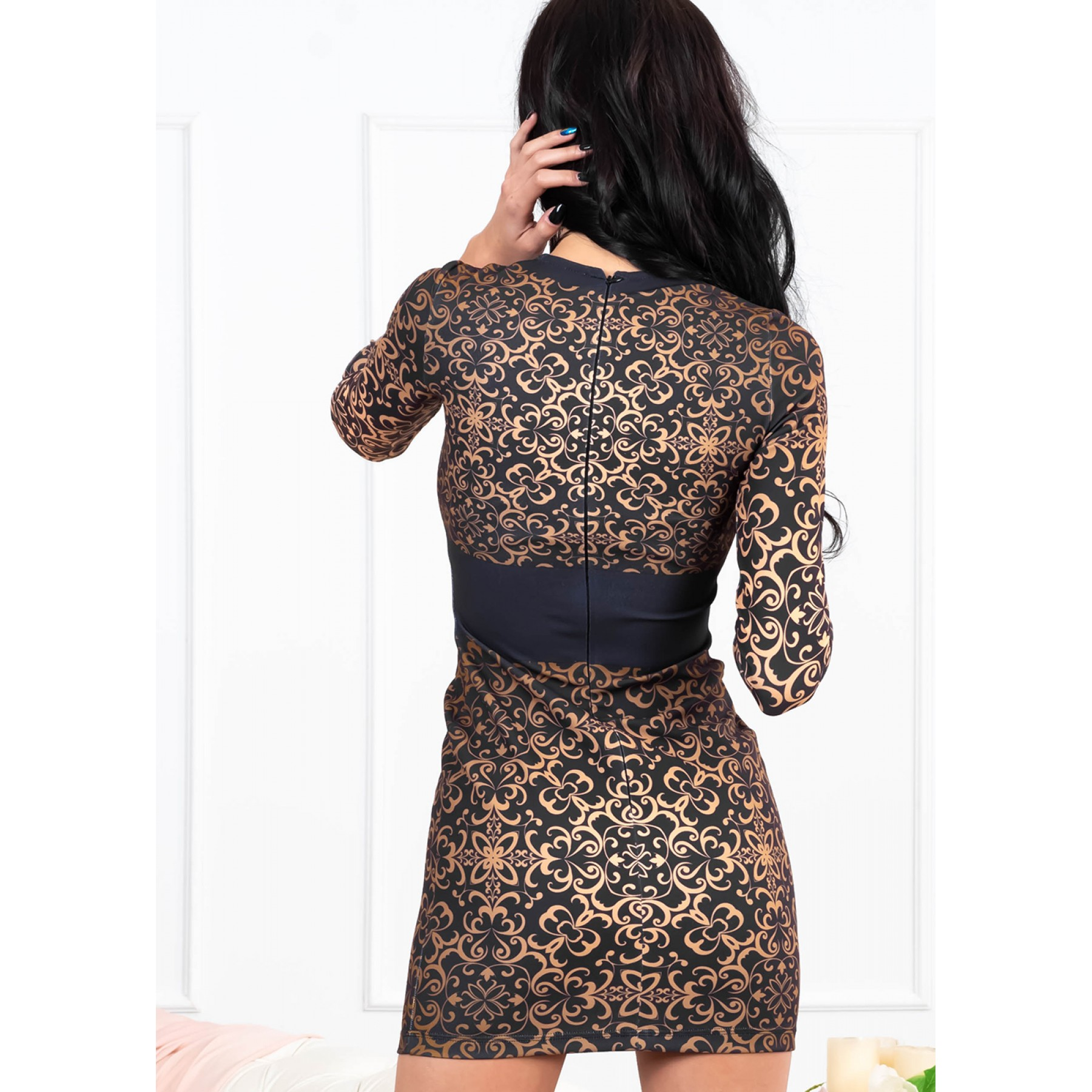 Patricia Mini Dress (Black/Gold)
