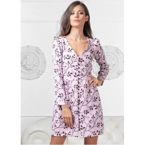 Mia Mini Dress (Pink/Floral)