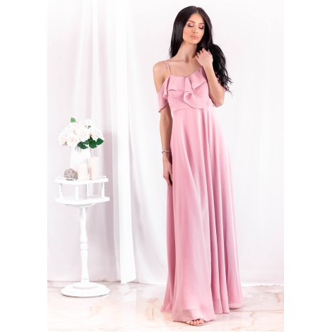 Evangelina Maxi Dress (Blush)