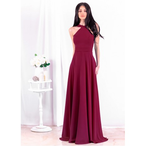 Beatrice Maxi Dress (Wine)