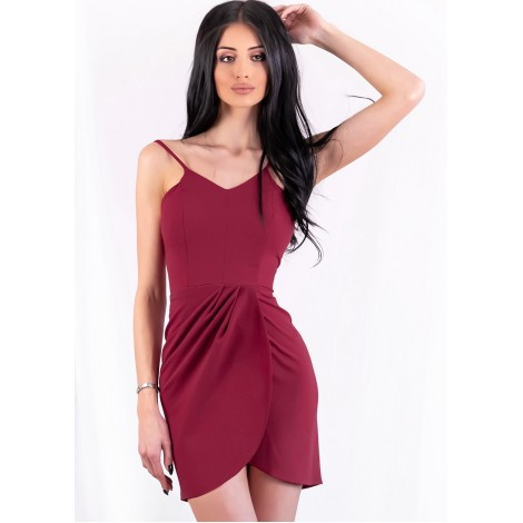 Bailey Mini Dress (Wine)