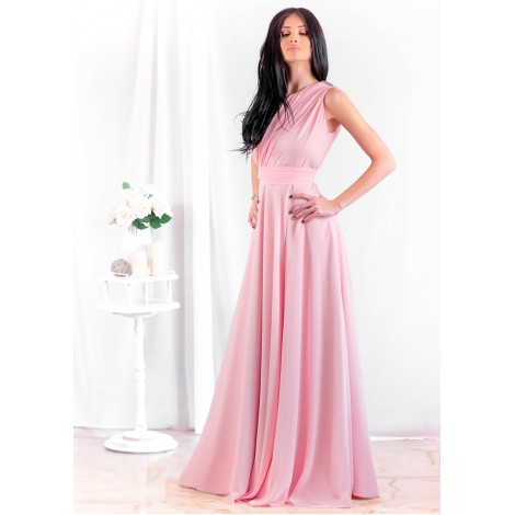 Stephanie Maxi Dress (Blush)