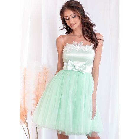 Moonlight Mini Dress (Mint)