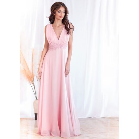 Madeleine Maxi Dress (Blush)