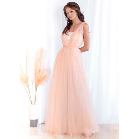 Venus Maxi Dress (Peach)