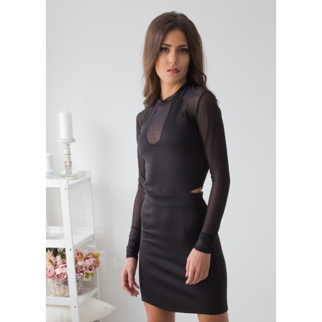 Catch Me Mini Dress (Black)