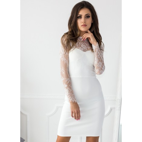 Sound Of Silence Mini Dress (White)