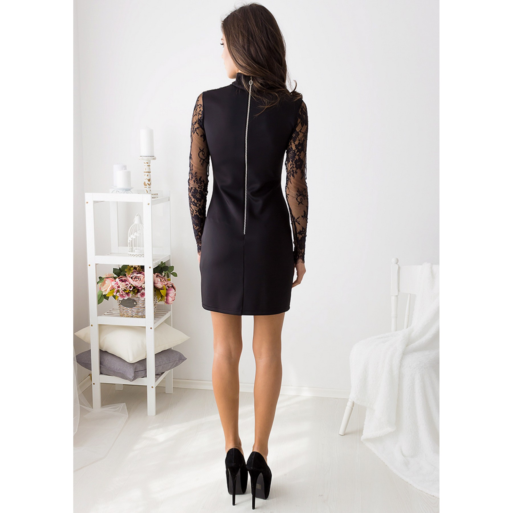 Break My Heart Mini Dress (Black)