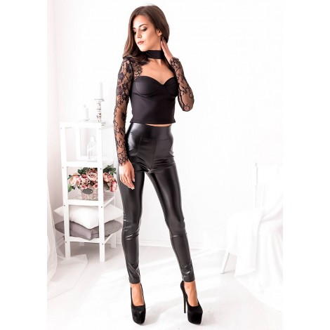 Get It Started Leather Pants (Black)