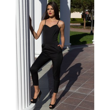 Read My Mind Jumpsuit (Black)