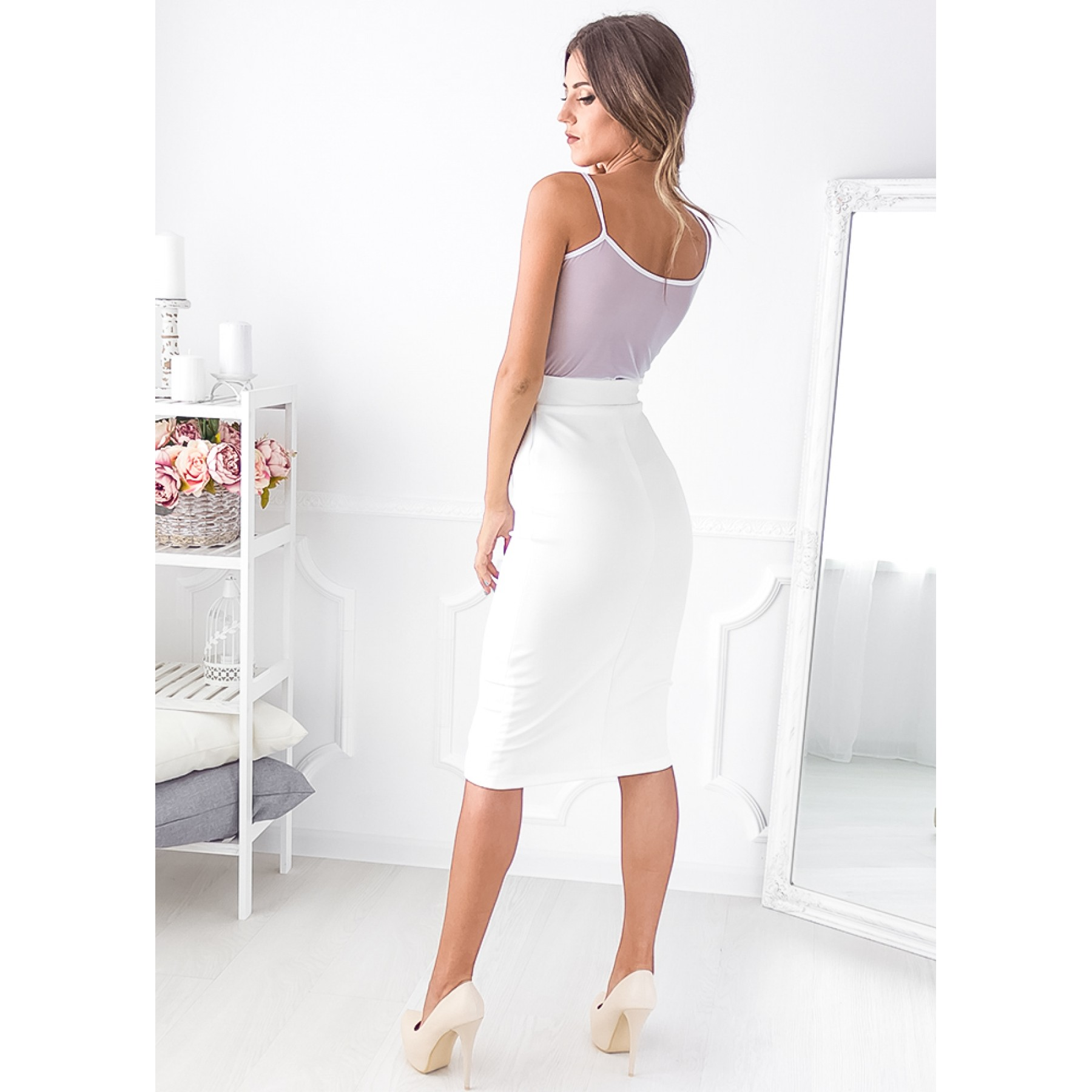Aviana Midi Dress (White)