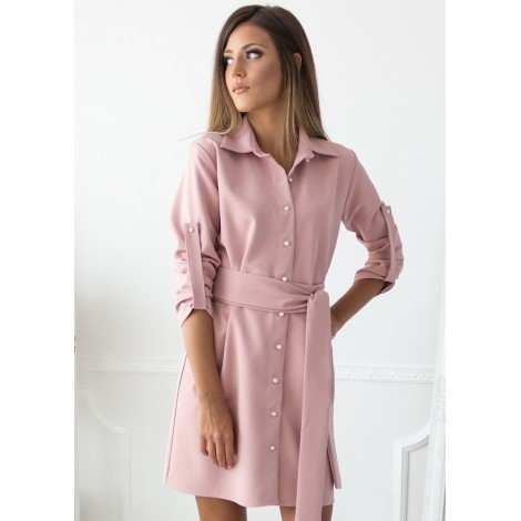 Essence Mini Dress (Blush)