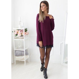 Sunday Edition Mini Dress (Wine)