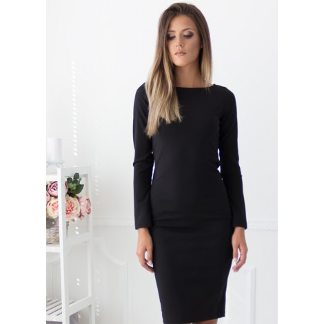 Carolina Midi Dress (Black)