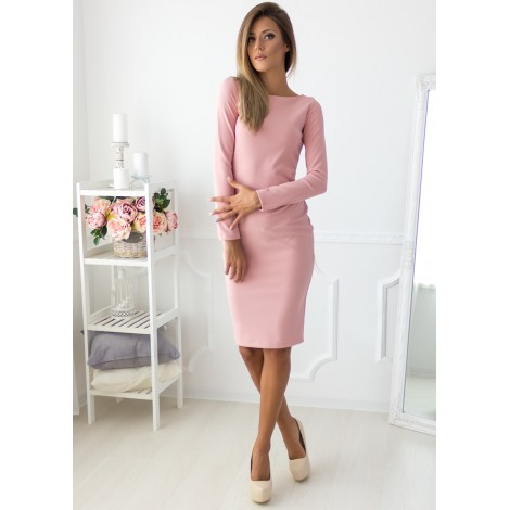 Carolina Midi Dress (Blush)