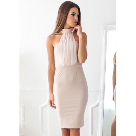 Tanya Mini Dress (Nude)